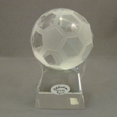 Celebration Crystal Soccer Ball and Stand (2 piece set)