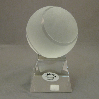 Celebration Crystal Tennis Ball and Stand (2 piece set)