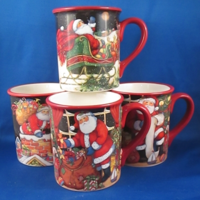 The Night Before Christmas set of 4 mugs