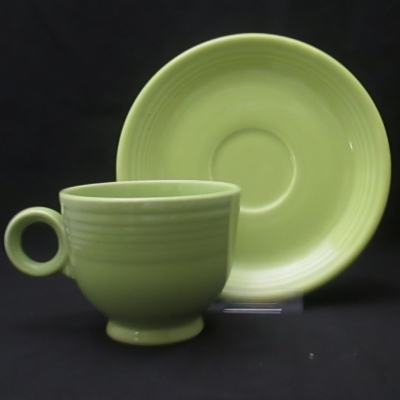 Homer Laughlin Fiesta Chartreuse cup and saucer