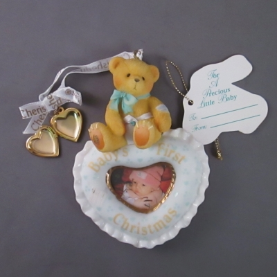 Cherished Teddies Baby Photo Frame Hanging Ornament
