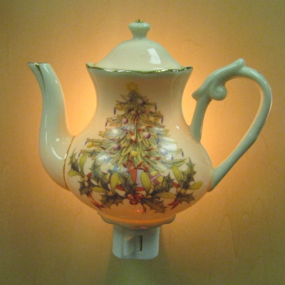 Teapot nightlight - Christmas tree