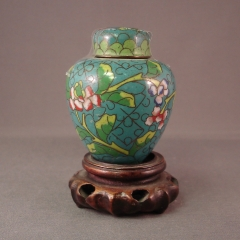 Cloisonne Ginger Jar - small, turquoise