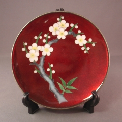 Cloisonne Plate - red