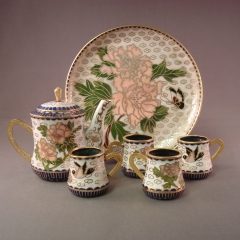 Cloisonne Miniature Tea Set