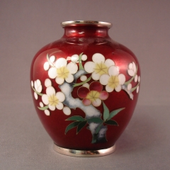 Cloisonne Vase - red