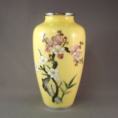 Cloisonne Vase - yellow