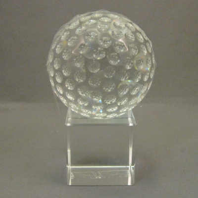 Crystal Golf Ball on Square Stand (2 piece set)