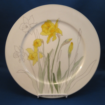 Block Daffodil dinner plate