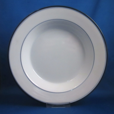Dansk Allegro Blue rimmed soup bowl