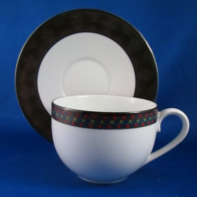 Dansk Amish Shadow cup & saucer