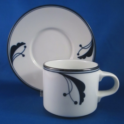 Dansk Bayberry - Blue cup & saucer