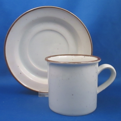 Dansk Brown Mist cup & saucer - Click Image to Close