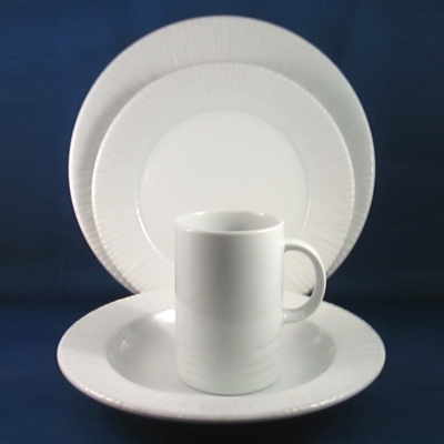Dansk Glace White 4-piece place setting