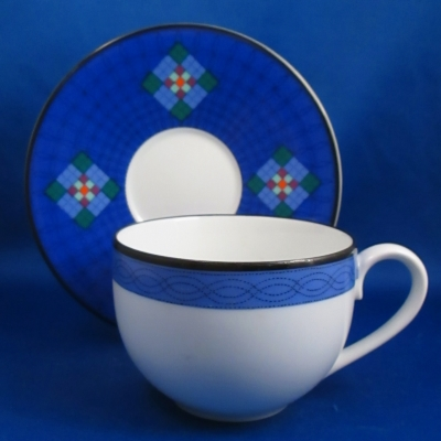 Dansk Nine Patch cup and saucer