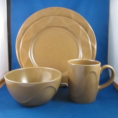 Origami Sandstone 4-piece place setting