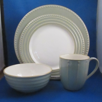 Dansk Reactic Sage 4 piece place setting