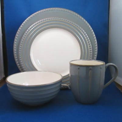 Dansk Reactic Slate 4 piece place setting