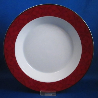 Dansk Ruby Flowers rimmed soup bowl