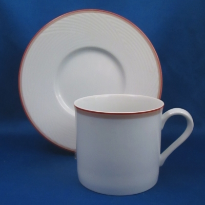 Dansk Tapestries Damask Red cup & saucer