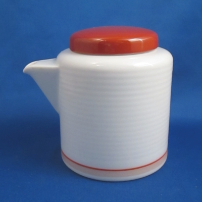 Dansk Tapestries-Red creamer with lid