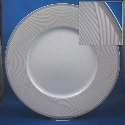 Dansk Twill-Blue dinner, salad, and bread & butter plates