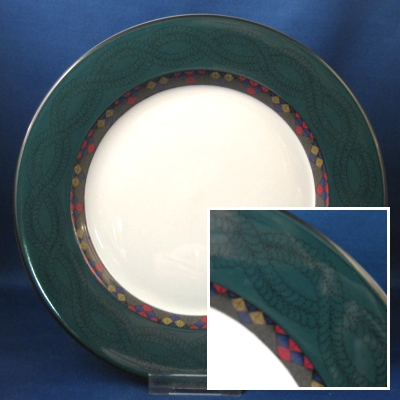 Dansk Emerald Braid dinner and salad plates