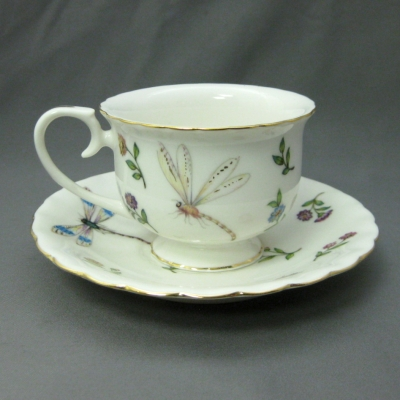 Butterfly cup & saucer - Delton