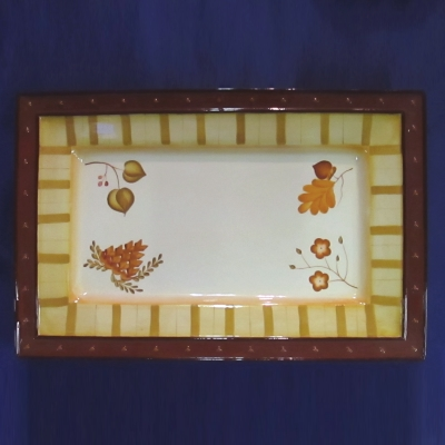 Demdaco Four Seasons rectangular platter
