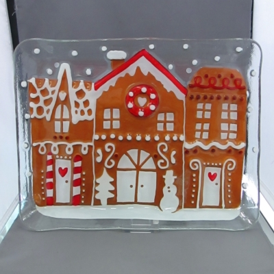 Gingerbread Village plate - Lori Siebert (Demdaco)