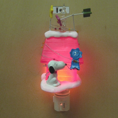 Snoopy's Prize Winner Bubble light nightlight - Dept 56