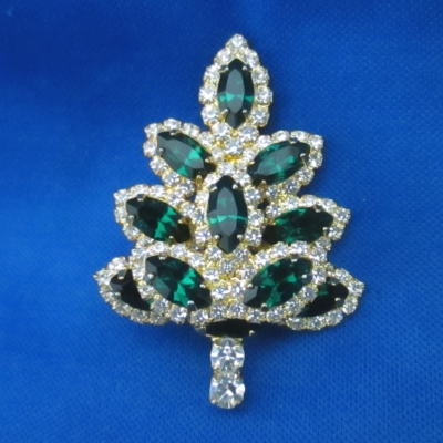 Eisenberg Ice Green Tree brooch