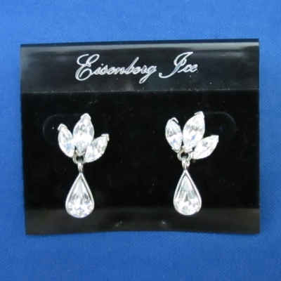 Eisenberg Ice Clear Crystal earrings