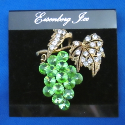 Eisenberg Ice Green Grapes brooch