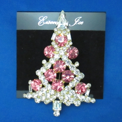 Eisenberg Ice Large Pink Candle Tree brooch