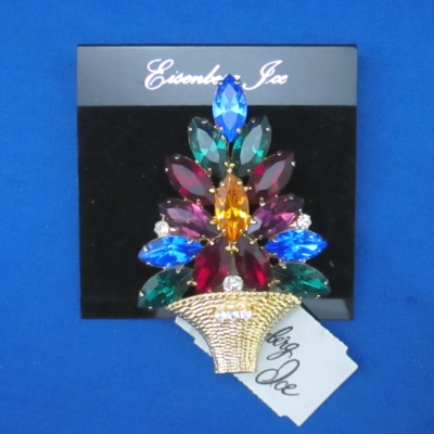 Eisenberg Ice Large Multicolored Tree brooch