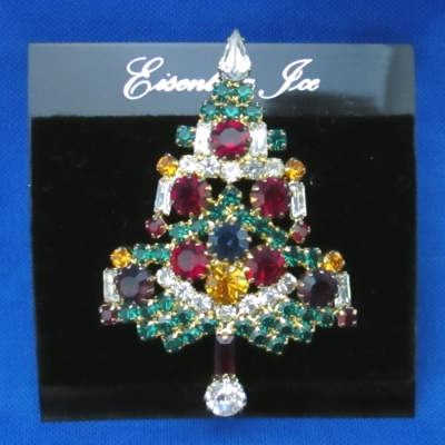 Eisenberg Ice Multicolored Candle Tree brooch