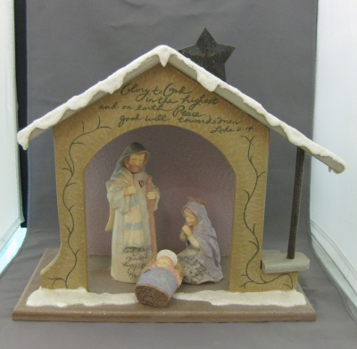 Lighted Nativity 4 pc set - Enesco Foundations
