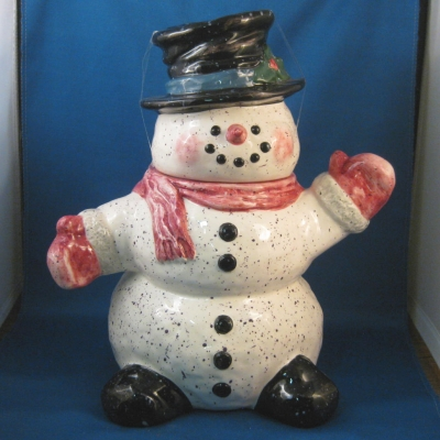 Snowman cookie jar - Julie Ueland