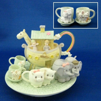 Enesco Precious Moments Noah's Ark mini tea set (10 pc)