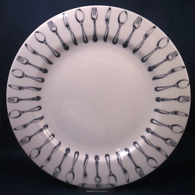 Epoch Knife and Fork dinner plate
