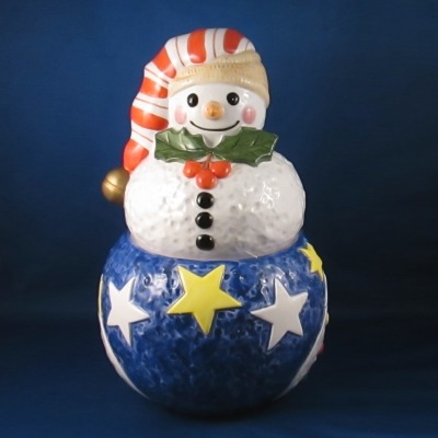 Epoch Mr. Snowman cookie jar