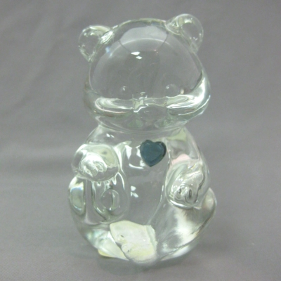 Crystal Birthstone Bear December (blue zircon)
