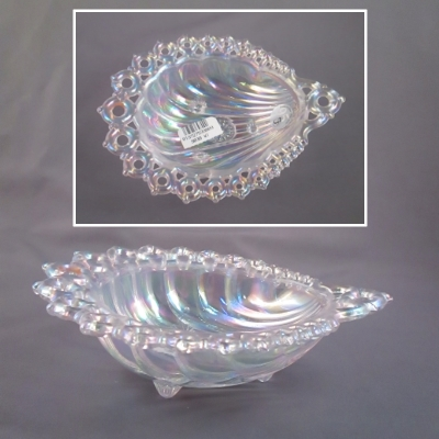 Clear Iridized Shell Bowl