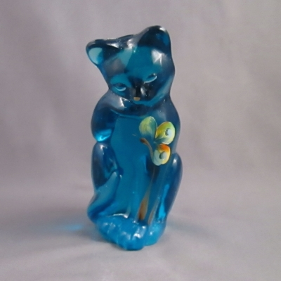 "4"" Blue Cat with Butterfly"