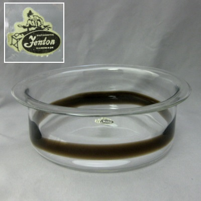 Banded Flanged Bowl by Katja - Clear & Hickory