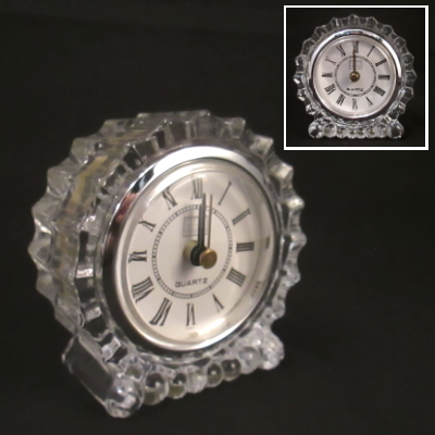 Fifth Avenue Crystal round fluted clock