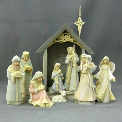 Nativity set, 9 pc - Foundations
