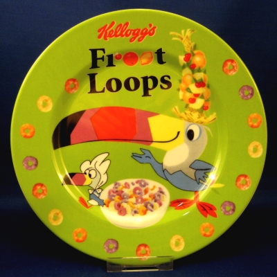 Kellogg's Froot Loops (Zrike) toast plate - Green