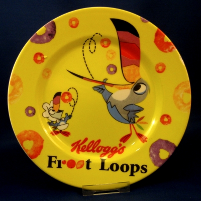 Kellogg's Froot Loops (Zrike) toast plate - Yellow